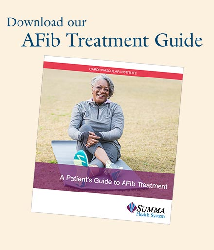 Download our AFib Treatment Guide